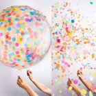 36  Round Confetti Balloons Latex Balloons Filled with Colorful Crepe Paper for Wedding Party Decorative 36 inch paper balloon