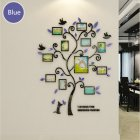 3D Acrylic Crystal Wall Sticker Living Room Bedroom Cozy Pictures Tree Stickers Home Decoration Dark blue