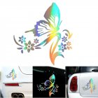 3D Car Decoration Sticker Butterfly with Flower Pattern Car Sticker Scratch Cover Cute Garland Sticker Photo Color