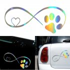 3D Funny Window Bumper Sticker Cute Cat Paw Print Dog Paw Print Vinyl Car Decoration Sticker Photo Color