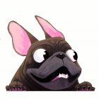 3D Unique Car Styling Funny Puppy Cartoon Car Sticker Colorful Window Body Vinyl Sticker Decal B