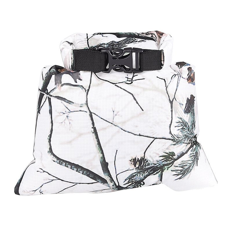 3L Waterproof Dry Bag Water Resistant Swimming Storage Bag Pack for Rafting Kayaking Camping Floating Sailing Canoeing White camouflage_22.5*29cm
