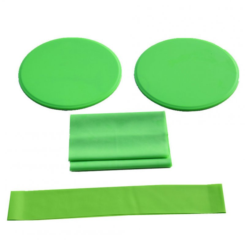 3Pcs Exercise Sliding Gliding Discs Yoga Fitness Abdominal Trainers Core Slider Tension Belt Resistance Ring green