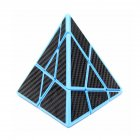 3x3x3 Magic Cube Pyramid Puzzle Speed Cube Toys For Children Ghost Pyramid Blue Bottom