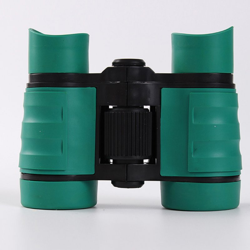 4*30 Colorful Rubber Handle Anti-skid Children Toy Binocular Telescope green