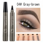 4 Colors 3D Microblading Eyebrow Tattoo Pen 4 Fork Tips Waterproof Fine Sketch Liquid Eyebrow Pencil  04 beige