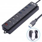 4 Port USB 3 0 HUB   4 Charging Ports USB Splitter Hub Multifunction Charger Extension Concentrator British