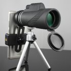 40x60 Monocular Telescope Ultra-high Transmittance Portable Telescope MF40x60 (with bracket spring clip)
