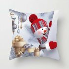 45*45cm Christmas Xmas Decorative Snowman Polyester Cushion Pillowcase Pillow Cover for Bedroom Living Room D