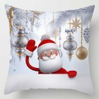 45*45cm Christmas Xmas Decorative Snowman Polyester Cushion Pillowcase Pillow Cover for Bedroom Living Room E