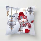 45*45cm Christmas Xmas Decorative Snowman Polyester Cushion Pillowcase Pillow Cover for Bedroom Living Room F