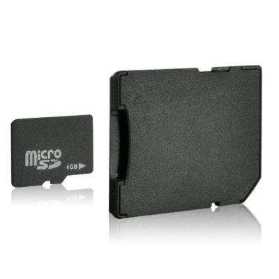 4GB Micro SD Card + SD Card Adapter