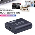 4K Graphics Capture Card HDMI To USB 3.0 Video Recorder Box For Video Recording black