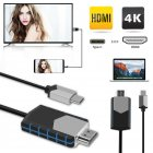 4K USB Type C to HDMI HDTV AV TV Cable Adapter for Samsung Galaxy S10 S9 MacBook Black blue
