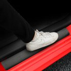 4PCS Car Door Edge Guards Door Pedal Protection Strip Scratch-proof Protective Cover Carbon fiber pattern