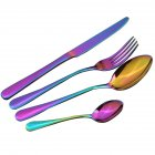 4PCS Stainless Steel Set Knife Fork Spoon