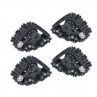 4PCS TRX4 Tracks Wheel Sandmobile Conversion Snow Tire for Traxxas TRX-4 1/10 RC Crawler Car black