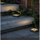 4Pcs 8LEDs Solar Powered Buried Light Underground Lamp for Outdoor Path Way Patio Garden Yard warm light