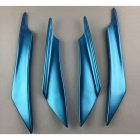 4Pcs Car Front Bumper Canard Lip Splitter Fin Body Spoiler Universal Modified Decoration  blue