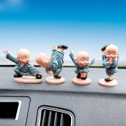 4Pcs Cartoon Little Monk Doll Decoration