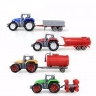 4Pcs/Set Kids Simulate 1:64 Engineering Sliding Farm Tractor Alloy Car Toy
