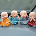 Kung Fu Cartoon Little Monk Doll Decoration