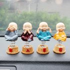 4Pcs Auto Dashboard Shaking Head Ornament