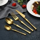 4Pcs/Set Stainless Steel Cutlery Set Cutter Fork Spoon Western Style Food Tableware titanium
