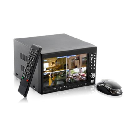 4-Ch DVR Security Set with LCD