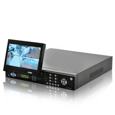 4 Channel H.264 Security System with LCD