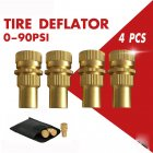 4pcs Brass Tire Deflators Kit Adjustable Automatic Tyre Deflator 0-90psi 4pcs