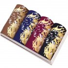 4pcs/set Man Middle Waist Underwear Breathable Bamboo Fiber Dragon Pattern Boxers 4 colors, 4 boxes_XXL