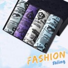 4pcs/set Man Underwear Box-packed Fashion Breathable Colorful Boxers skating_XXXL