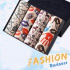 4pcs/set Man Underwear Box-packed Fashion Breathable Colorful Boxers simple_XL