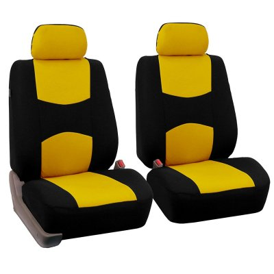 Car Front Seat Cover Yellow