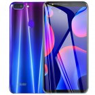 5.5-inch HD Screen R15 Plus Ultra-thin Dual Card Face ID Smartphone Gradient purple