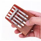 5-Key Kalimba Rosewood Mbira Children Mini Guitar Thumb Piano Traditional Musical Instrument Perfect Gift for Kids red