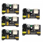 5 Pcs Breadboard Power Supply Module 3.3V 5V MB102 Switched Header for Arduino PIC Pi TE608