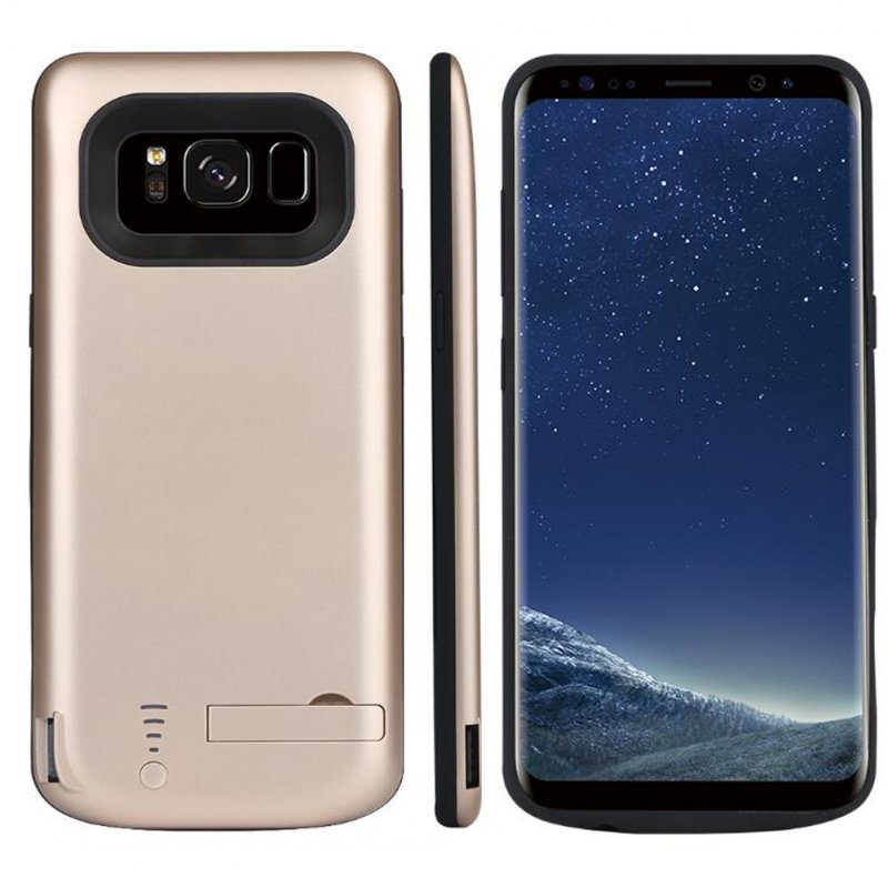 5000mAh Rechargeable Extended Battery Charging Case External Battery Charger Case for Samsung Galaxy S8