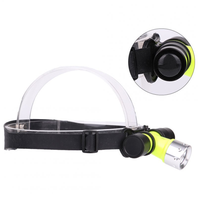 500lm LED Underwater Waterproof Diving Headlamp Dive Flashlight Head Light Lamp Torch White light