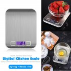 5KG Stainless Steel Kitchen Scale Electronic Food Weighing Scale Digital Measuring Gram Accurate white