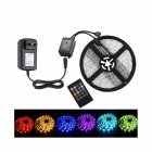5M/10M SMD3528 Waterproof RGB Music LED Strip with Remote Controller Power Adapter 100-240V 5 meters_U.S. regulations