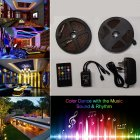 5M/10M SMD3528 Waterproof RGB Music LED Strip with Remote Controller Power Adapter 100-240V 10 m_U.S. regulations