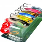 5Pcs Fishing Lures Set 10cm 14.7g Soft Silicone Grub Bait Artificial Baits with Shank Hook 10cm_5 pcs