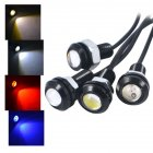 5W Eagle Eye LED Daytime Running DRL Backup Car Light Auto Lamp 18mm yellow