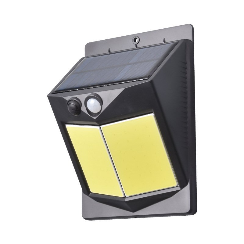 5W LED Solar Charging Human Body Induction Wall Light Short double-sided 96 COB