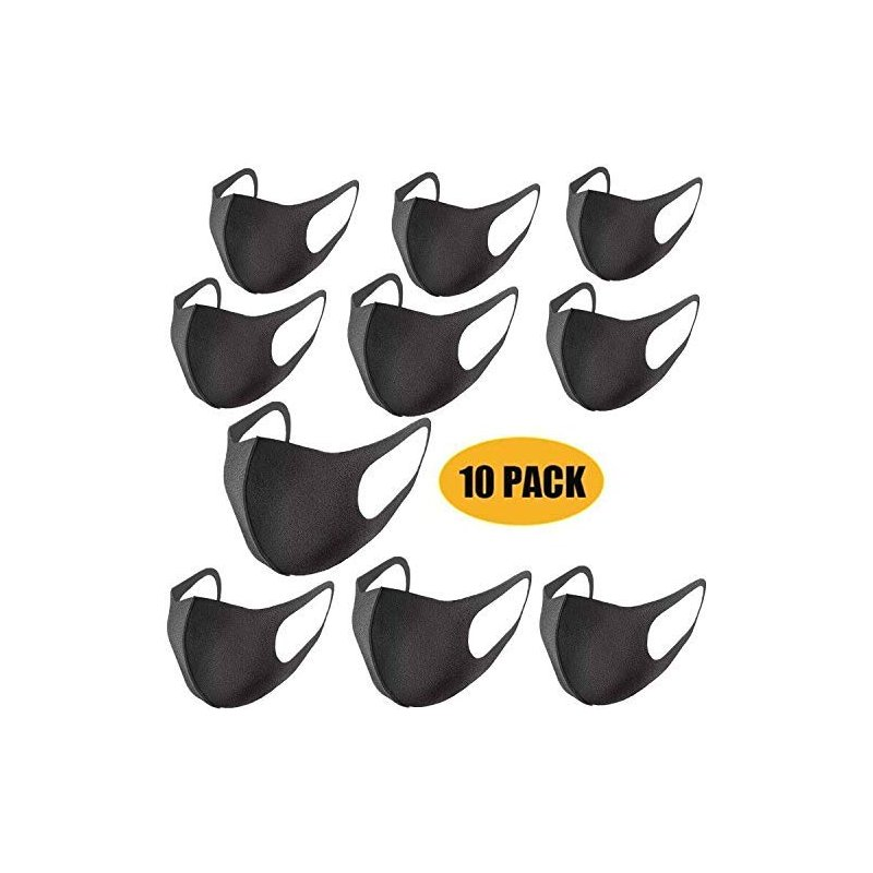 10pcs Thin Face Sponge Mask black