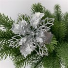 5pcs/set Christmas Decoration Christmas Celebration Hollow Out Glitter Powder Flower Wreath Garland Decor Pendant silver