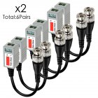 6 Pairs CCTV BNC Video Balun Transceiver Cable  6 pairs