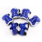 6 Pieces Kids  Gear Knee Pads Blue currency